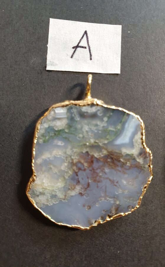 Agate feuille d'or (A)