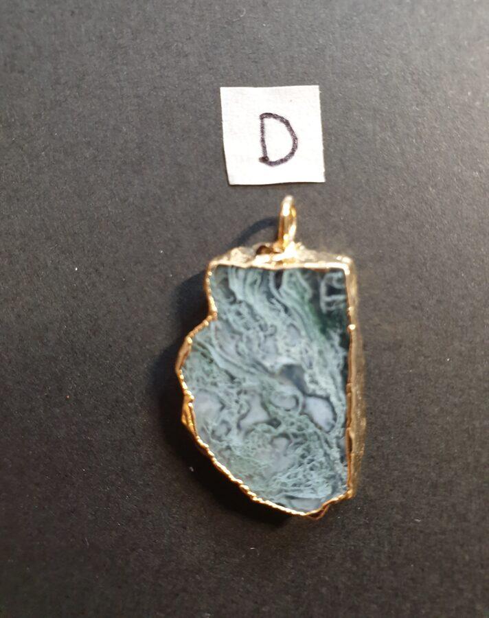 Agate et feuille d'or (D)