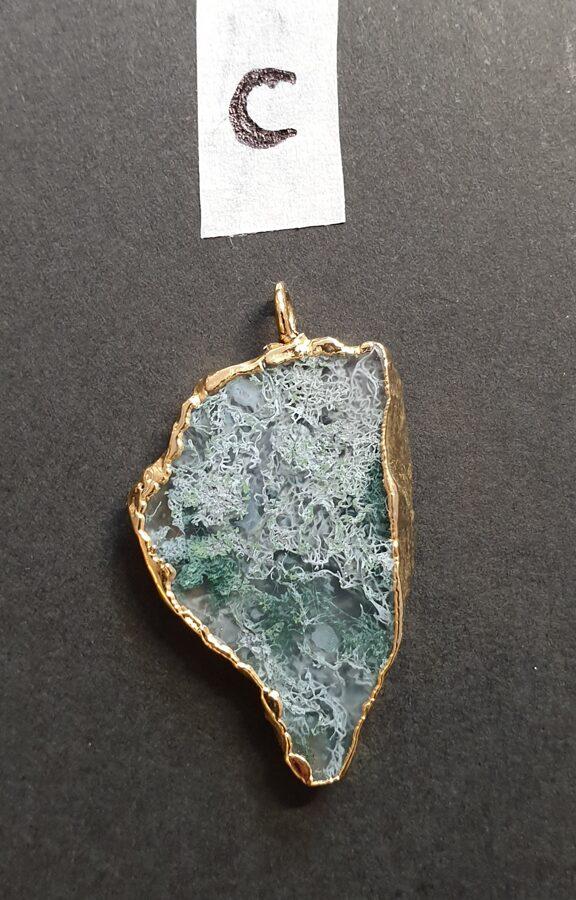 Agate et feuille d'or (C)